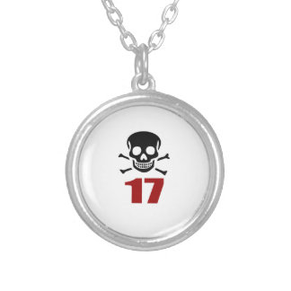 17 Birthday Designs Silver Plated Necklace