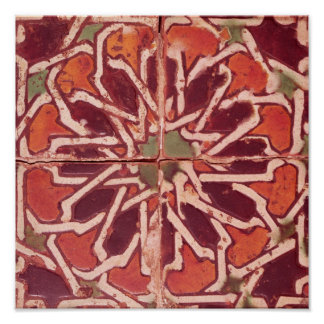 17:Isnik Tile, 16th century Poster