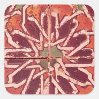 17:Isnik Tile, 16th century Square Sticker