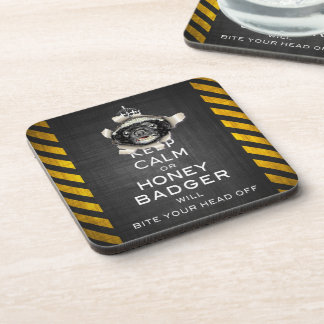 [17] Keep Calm or Honey Badger… Coaster