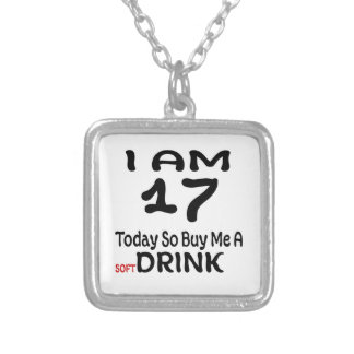 17 Today So Buy Me A Drink Silver Plated Necklace
