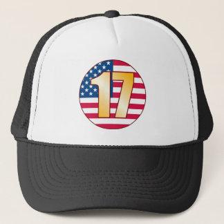17 USA Gold Trucker Hat