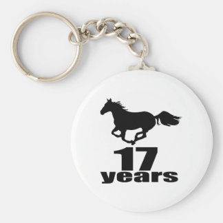 17 Years Birthday Designs Key Ring