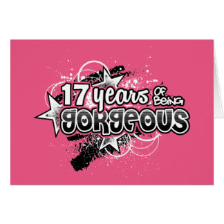 Turn 17 gifts t shirts art posters other gift ideas zazzle 17 years of being gorgeous 17th birthday card bookmarktalkfo Image collections