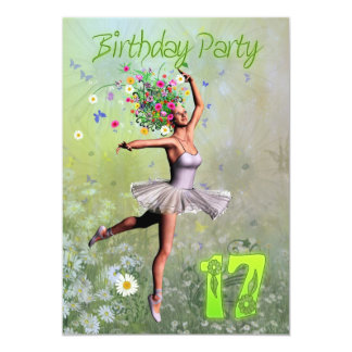 17th Birthday party invitation