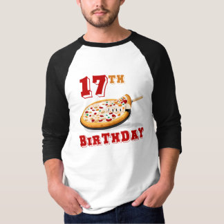 17th Birthday Pizza party T-Shirt