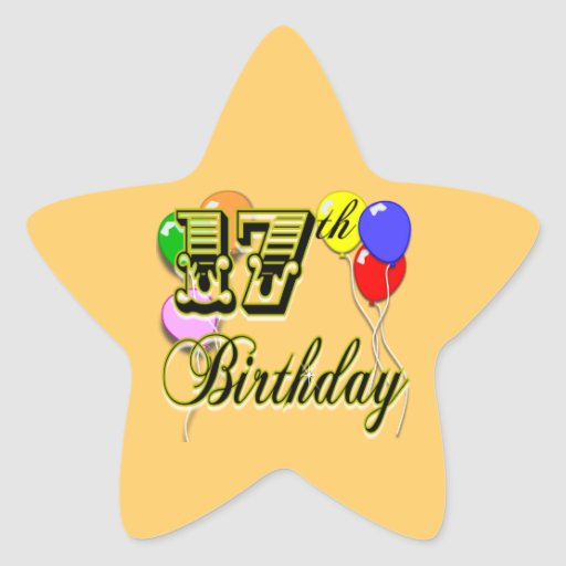 17th Birthday Sticker