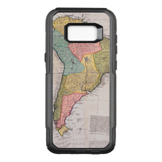 17th Centruy English Antique Map of South America. OtterBox Commuter Samsung Galaxy S8+ Case