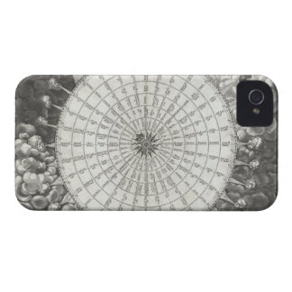 17th Century Anemographic Wind Rose Chart iPhone 4 Case