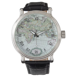 17th Century Antique World Map, Frederick De Wit Watch