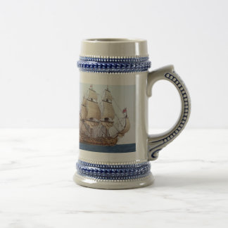 17Th Century British Warship Mug