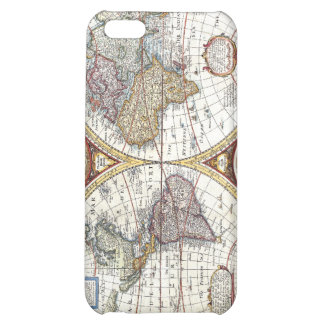 17th Century Dual Hemisphere World Map Cover For iPhone 5C