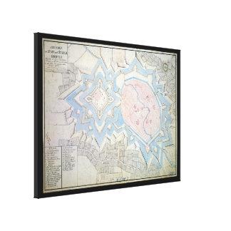 17th Century Map of Coesfeld Ludgerusburg Germany Gallery Wrap Canvas