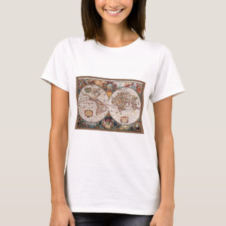17th Century original World Map1600s T-Shirt
