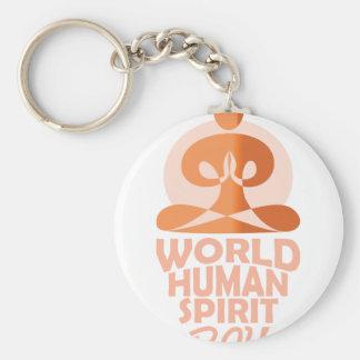 17th February - World Human Spirit Day Key Ring