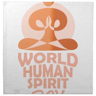 17th February - World Human Spirit Day Napkin