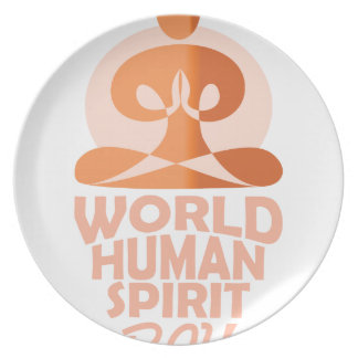 17th February - World Human Spirit Day Plate