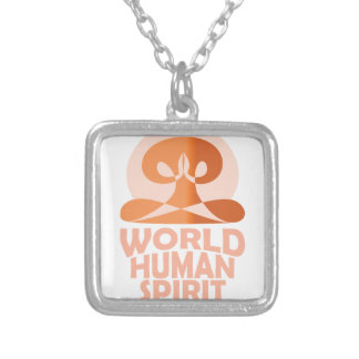 17th February - World Human Spirit Day Silver Plated Necklace