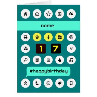 17th hashtag computing birthday add name card