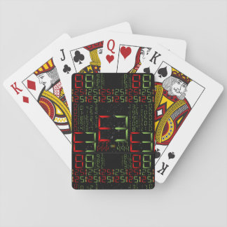 17th Pattern; Digital Numbers - Matrix Style Playing Cards