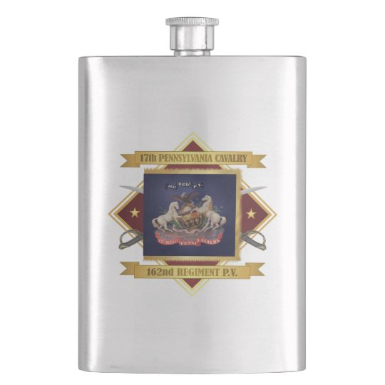 17th Pennsylvania Cavalry Flasks