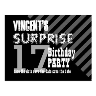 17th TEEN Surprise Birthday Save the Date T17A Postcard