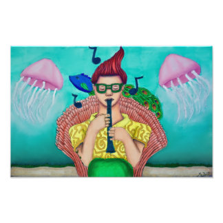 (17x11) Musical Merman Photo Print
