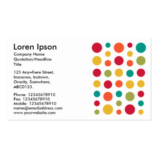180115 - Colors 02 - on White Pack Of Standard Business Cards