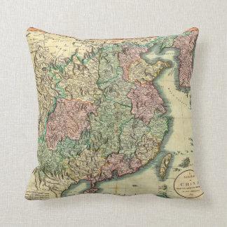 1801 John Cary Map of China and Korea Cushion