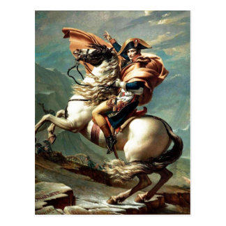 1801 Napoleon Crossing the Alps, Jacques-Louis Dav Postcard