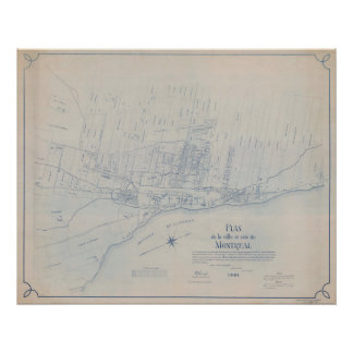 1801 Plan off Montreal Poster