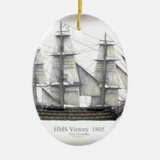 1805 Victory ship Ceramic Ornament