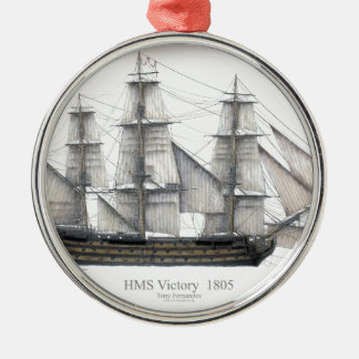 1805 Victory ship Metal Ornament
