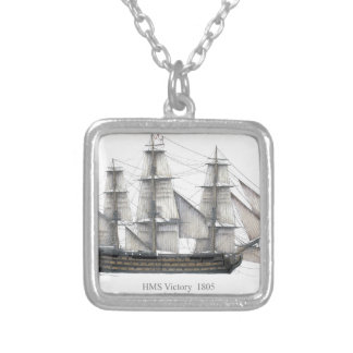 1805 Victory ship Silver Plated Necklace