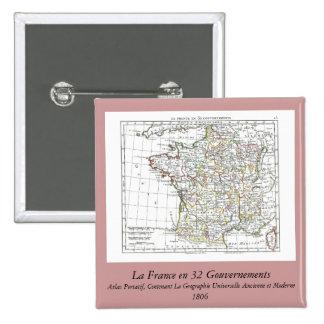 1806 Map - La France en 32 Gouvernements Buttons
