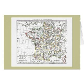 1806 Map - La France en 32 Gouvernements Greeting Card