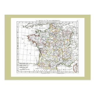 1806 Map - La France en 32 Gouvernements Postcard