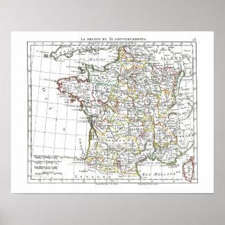 1806 Map - La France en 32 Gouvernements Poster