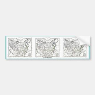 1806 Map - La Grande Tartarie Bumper Sticker