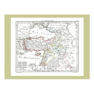 1806 Map - La Turquie d Asie Post Cards