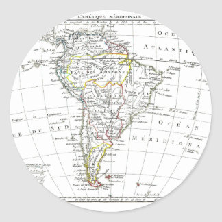 1806 Map - L'Amérique Méridionale Round Sticker