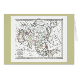 1806 Map - L'Asie Card