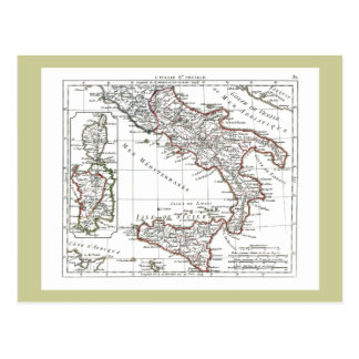 1806 Map - L'Italie (Sud) Postcard