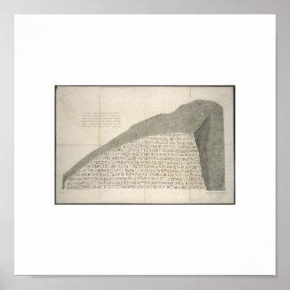 1810 Rosetta Stone Heiroglyphs Picture Poster