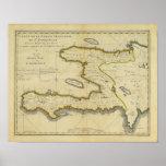 1814 Haiti Map by Mathew Carey