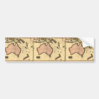 1818 Australasia  Map - Australia, New Zealand Bumper Sticker