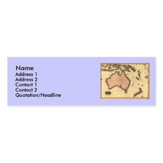 1818 Australasia  Map - Australia, New Zealand Business Card Template