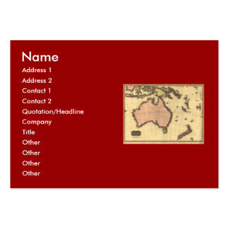 1818 Australasia  Map - Australia, New Zealand Business Card Templates