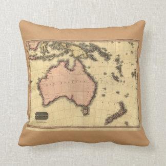 1818 Australasia Map - Australia, New Zealand Cushion