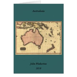 1818 Australasia  Map - Australia, New Zealand Greeting Card